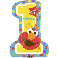 Sesame Street Elmo 1st Birthday Supershape Balloon