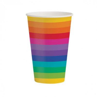 Rainbow Large Cups x 8